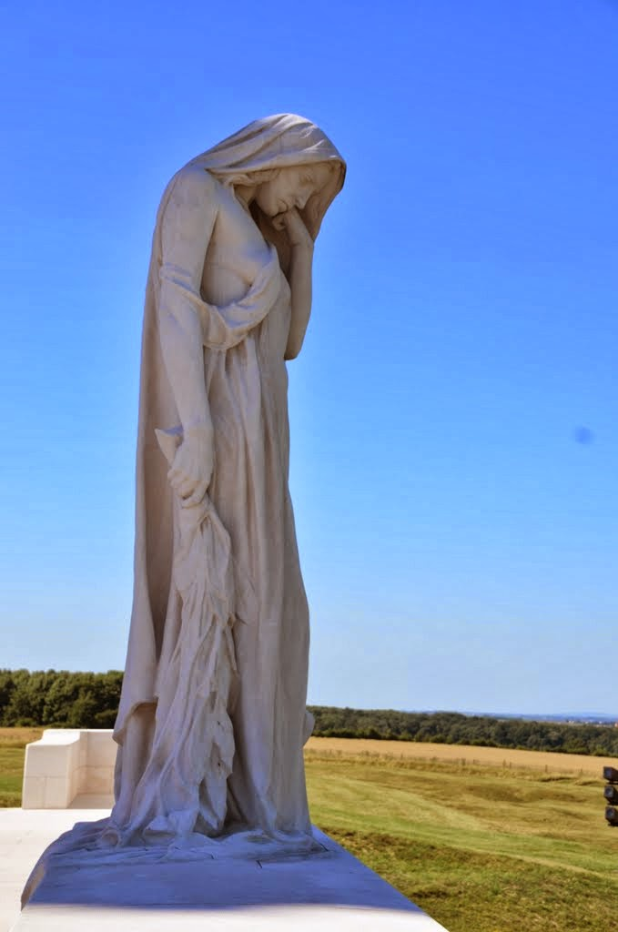Mother Canada weeps - Vimy Memorial