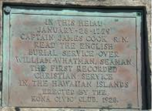 Plaque commemorating James Cook in Hawai'i