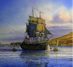Cook sailing ship